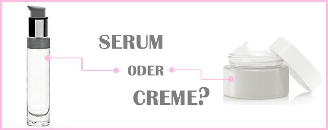 Anti-Aging Serum oder Creme
